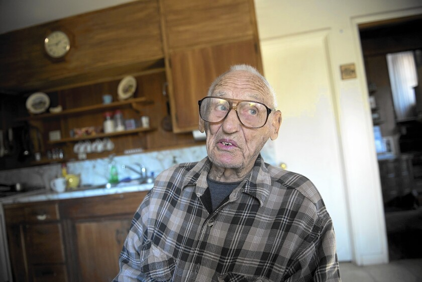 Delmer Berg speaks during an interview at his home in Columbia, Calif. in October of 2015. Berg, the last known American survivor who fought fascists in 1930s Spain, died on Sunday, Feb. 28.
