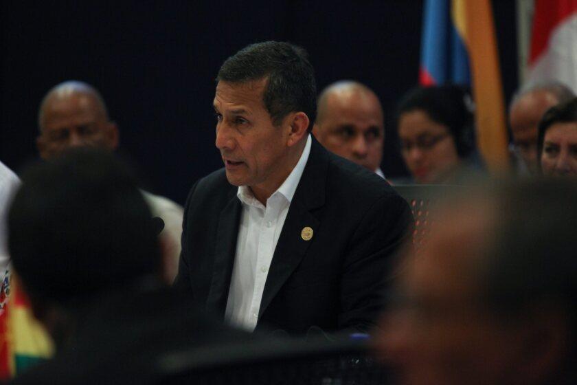 Peruvian President Ollanta Humala attends the UNASUR summit in Paramaribo, Suriname, this summer.
