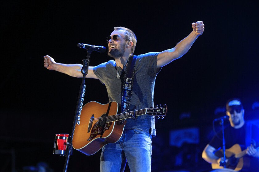 Country singer Eric Church, performing at the Stagecoach festival in 2014, is nominated for five CMA Awards.