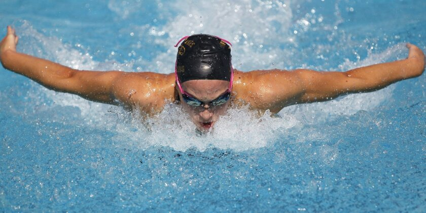 Torrey Pines senior Kelsey Kafka won the section Division I title in the 200-yard individual medley.