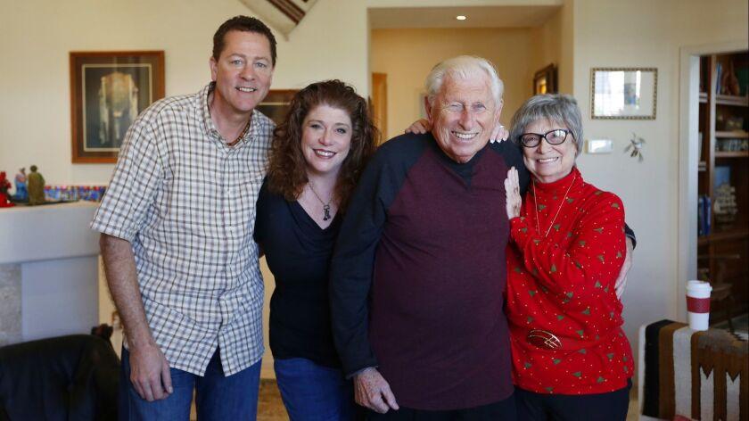 Sean and Joice Curry, left are shown with Joice's parents Andy and Dora Truban in Oceanside home on
