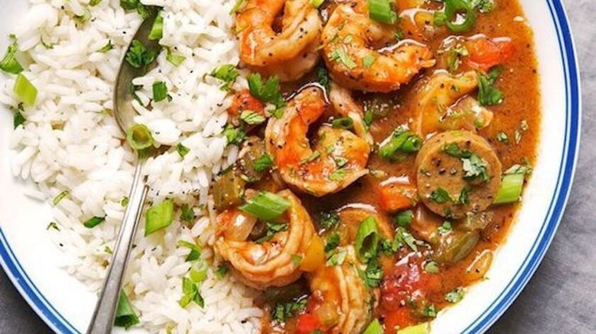 Chef Josh Richardi's spicy gumbo, which will be on the Masters Kitchen and Cocktail menu for Mardi Gras.