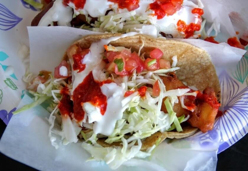 Baja fish taco from TJ Oyster Bar.