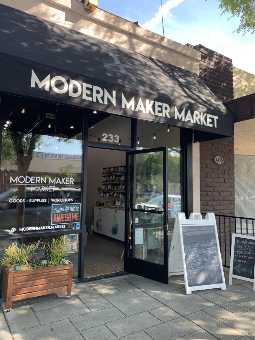 Modern Maker Market's new storefront is located at 233 E. Grand Ave.