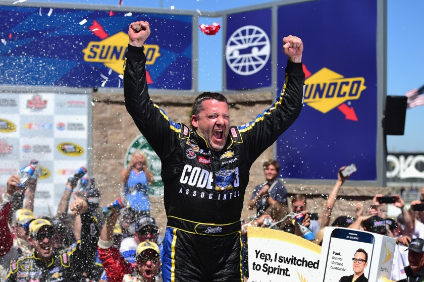 Tony Stewart wins at Sonoma to snap 84-race drought