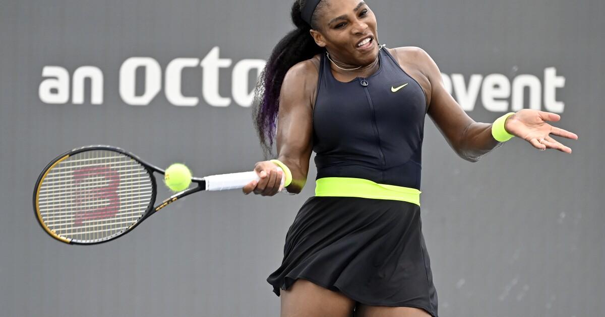 Serena Williams rallies to defeat sister Venus at WTA event