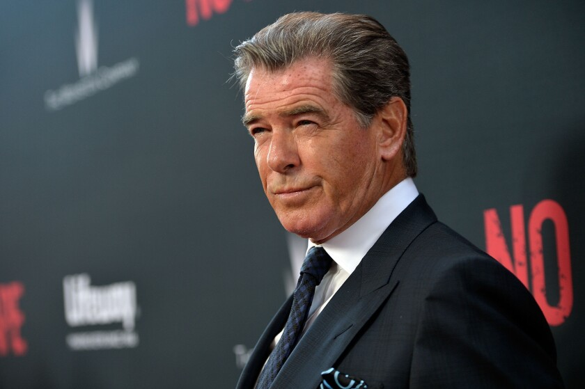 """""""Some Kind of Beautiful"""" star Pierce Brosnan seen at the premiere of the Weinstein Company's """"No Escape"""" at Regal Cinemas L.A. Live on August 17, 2015."""