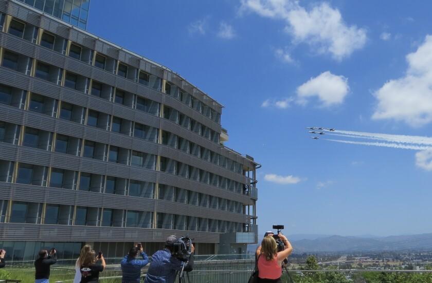 Thunderbirds flyover at Palomar