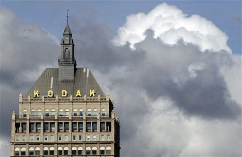 FILE -  In this Oct. 3, 2011 file photo, Kodak headquarters is shown in Rochester, N.Y. Kodak _ the company that invented the first digital camera in 1975, and developed the photo technology inside most cellphones and digital devices _ is in the midst of the worst crisis in its 131-year history. (A