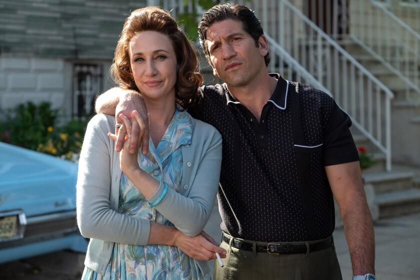 (L-r) VERA FARMIGA as Livia Soprano and JON BERNTHAL as Johnny Soprano