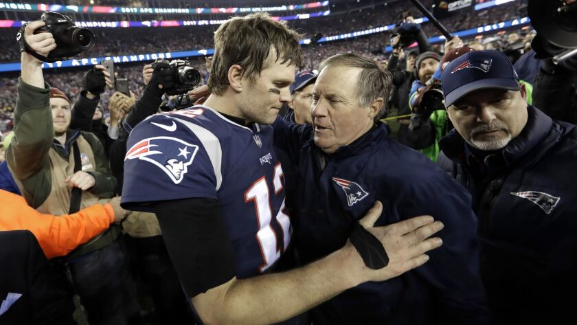 New England Patriots quarterback Tom Brady and coach Bill Belichick have formed one of the most successful collaborations in sports history over the last two decades.