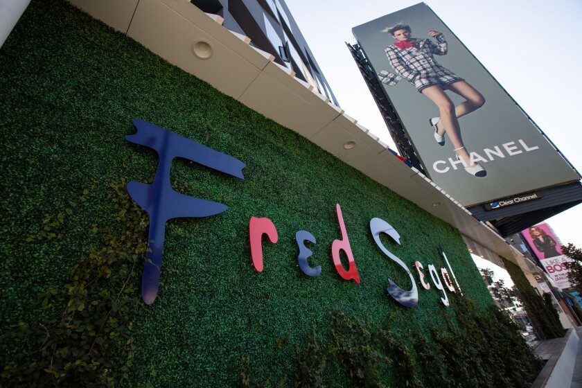 A Fred Segal storefront in Los Angeles.