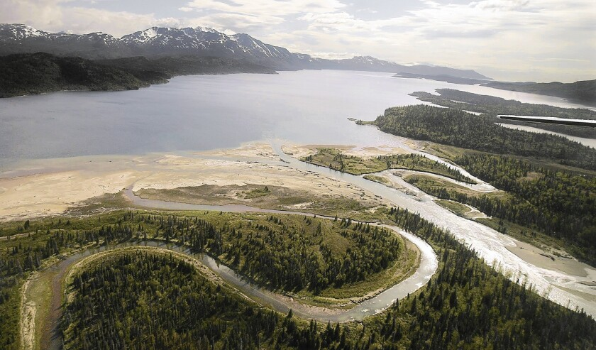 Located at the base of the Alaska Peninsula, Lake Iliamna and its tributaries are the headwaters of the Bristol Bay region, one of the richest salmon fisheries in the world. A proposed mine would threaten the area, the EPA has found.