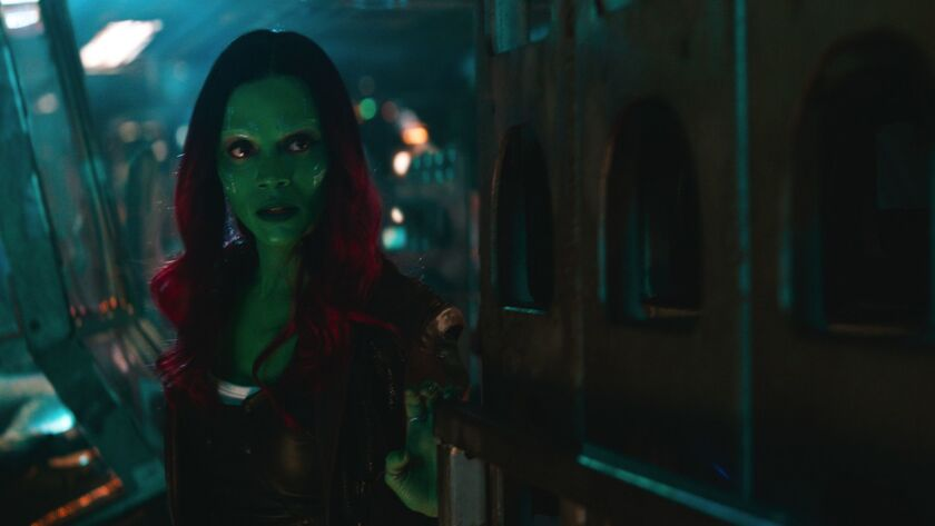 Marvel Studios' AVENGERS: INFINITY WAR Gamora (Zoe Saldana) Photo: Film Frame ©Marvel Studios 20