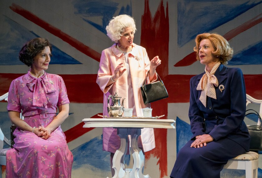 "Debra Wanger, Sandy Campbell and Lisel Gorell-Getz (from left) in Moxie Theatre's ""Handbagged."""