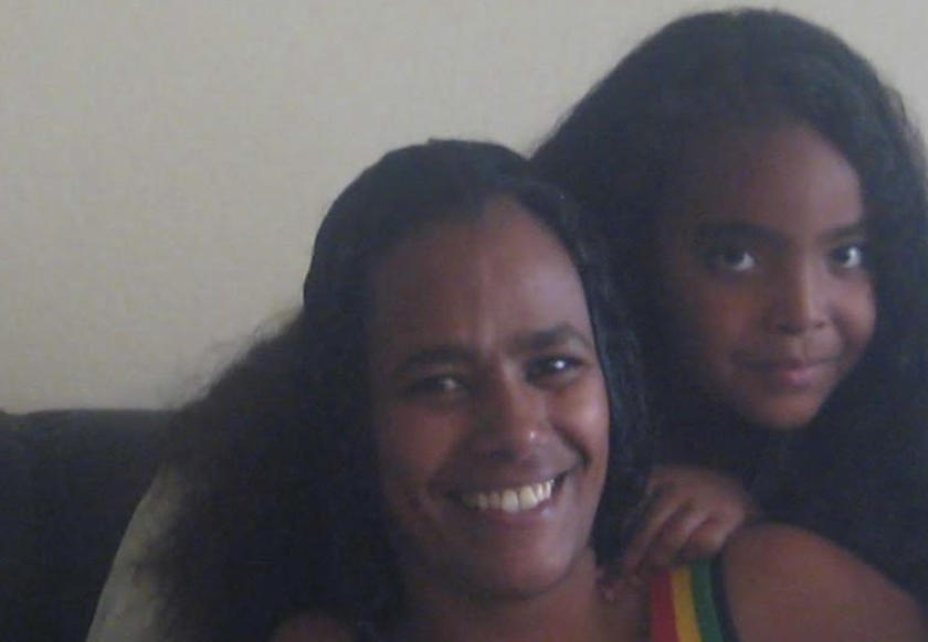 Arsema Aklog (right) with her mother, Kidist Gebretsadik.