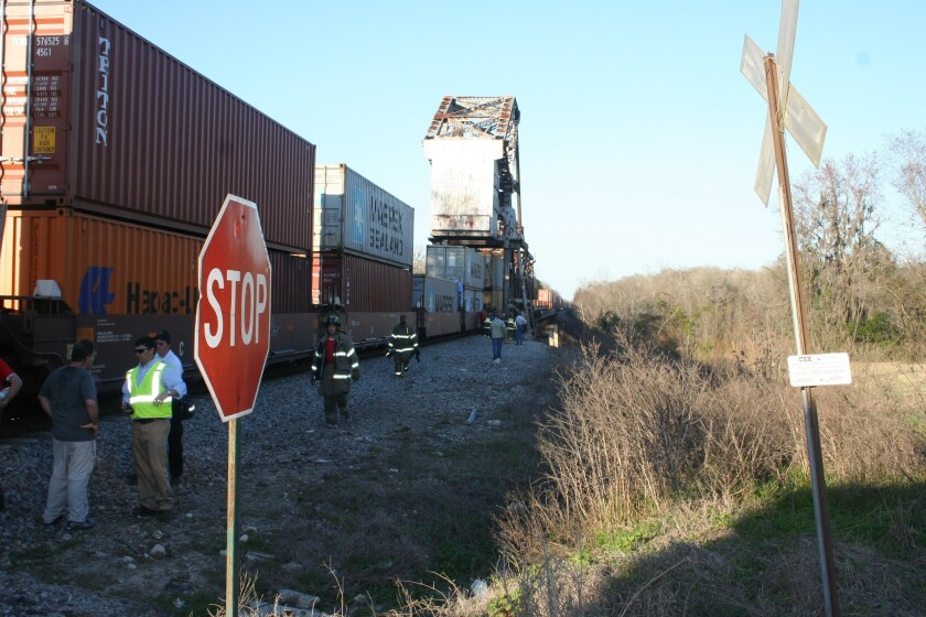 "Authorities at the scene of train accident in Doctortown, Ga. that killed 27-year-old Sarah Elizabeth Jones and injured seven other members of the film crew for ""Midnight Rider."""
