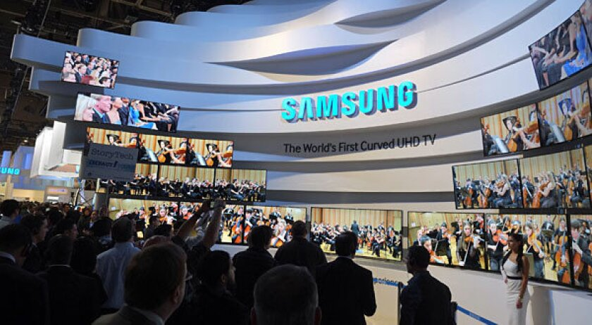 Samsung ultra-HD TVs at CES