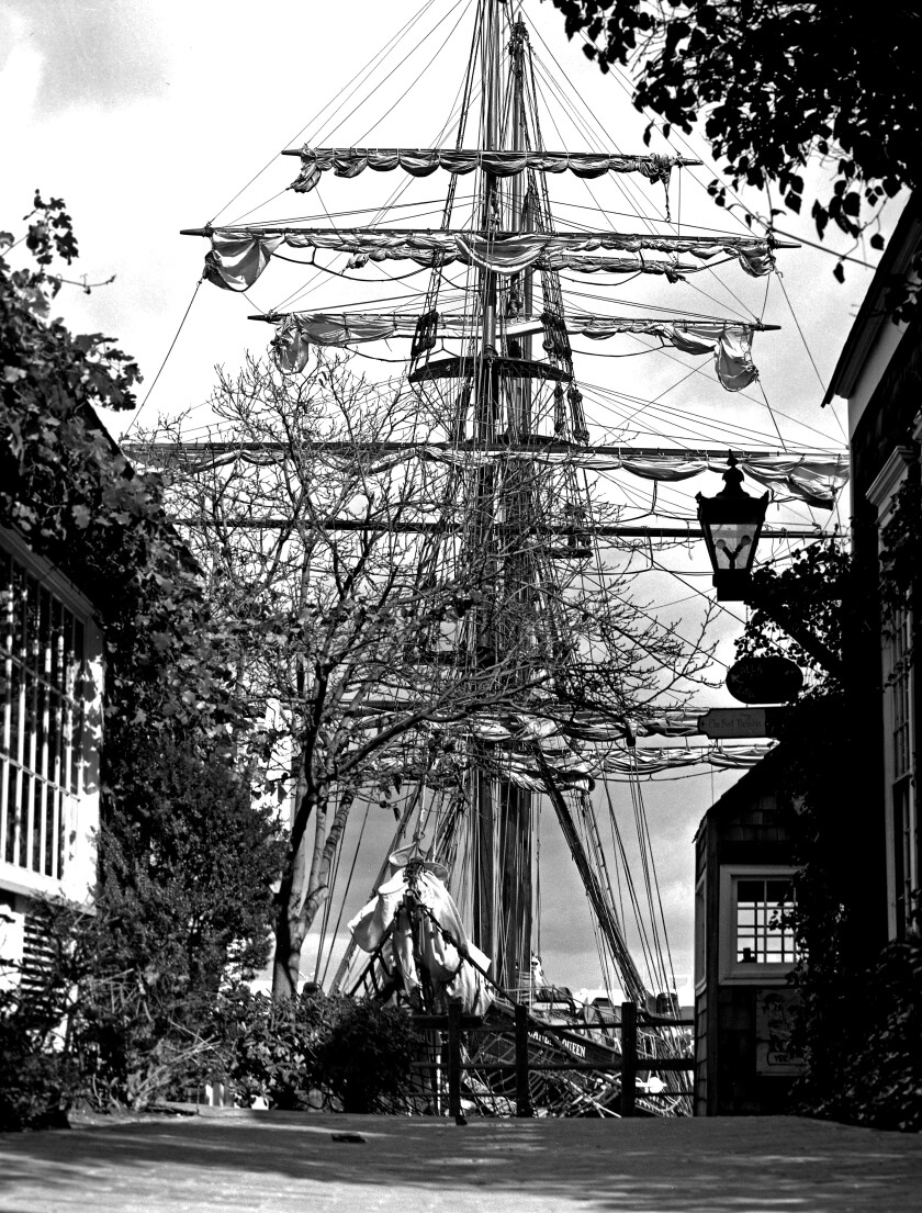 "The ship ""Regina Maris"" at Ports O' Call in San Pedro in the 1970s."