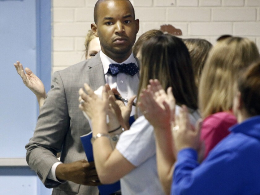 Elementary school teacher Omar Currie