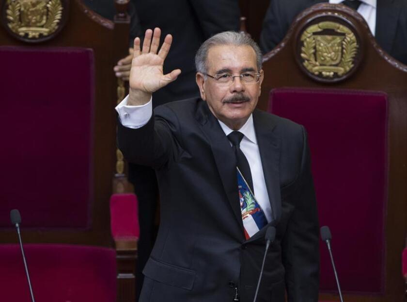 En la imagen, el presidente dominicano, Danilo Medina. EFE/Archiv9o