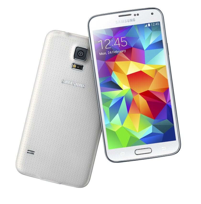 Samsung's upcoming Galaxy S5 is now on display at about 100 Best Buy stores around the country.