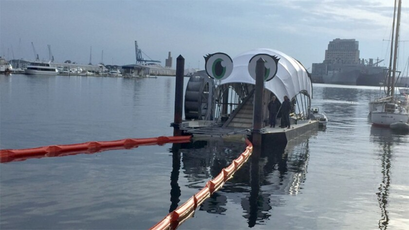 Baltimore's second water wheel, designed to scoop trash and debris out of the harbor, was unveiled last month