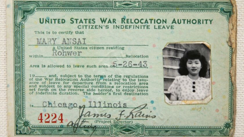 The official Citizen's Indefinite Leave document issued by the United States War Relocation Authorit