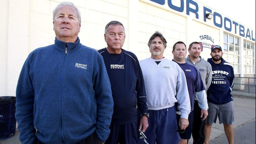 Newport Harbor High football coach Jeff Brinkley has led the Sailors to their eighth CIF Southern Se