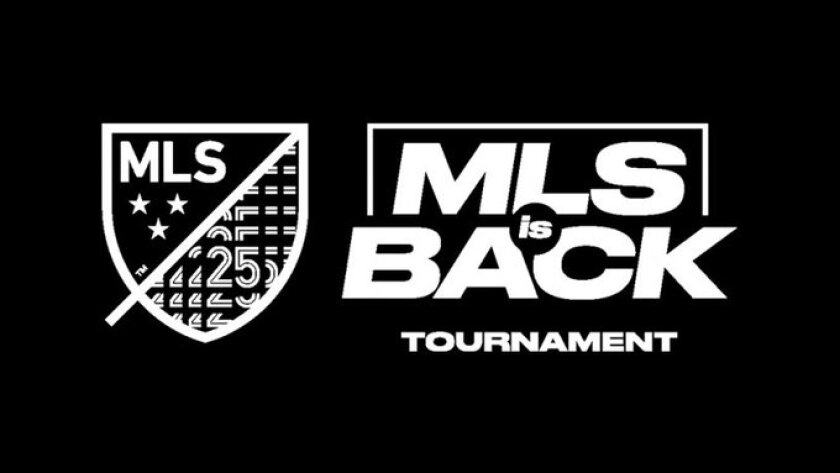 Logo for MLS Is Back tournament