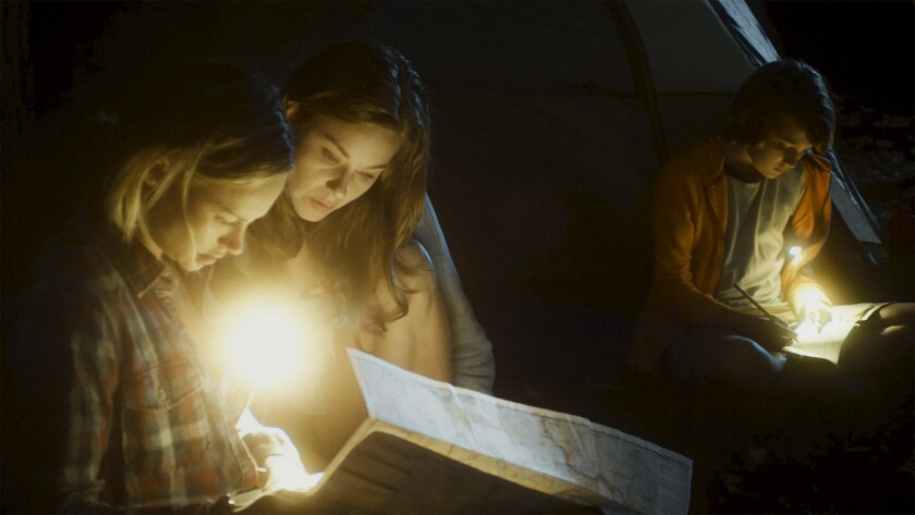 "Alyshia Ochse, left, Jaimi Paige and Toby Nichols in Sam Patton's ""Desolation."""