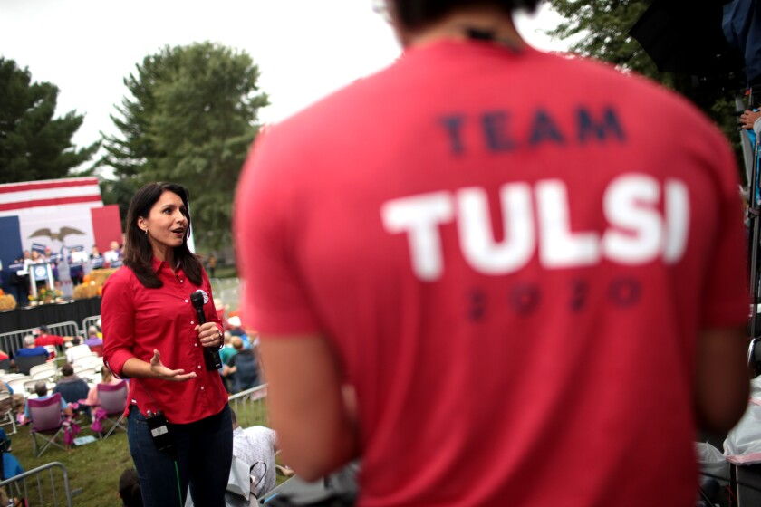 Tulsi Gabbard's garb comes up short