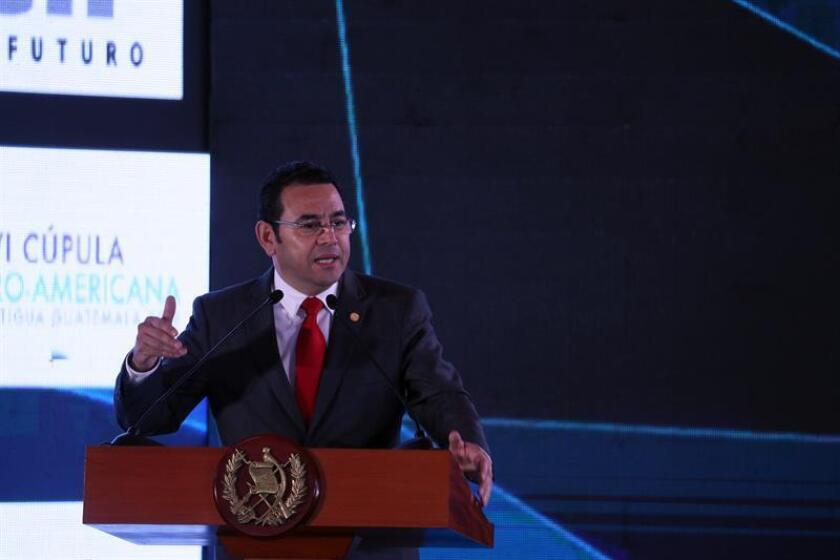 El presidente guatemalteco, Jimmy Morales. EFE/Archivo