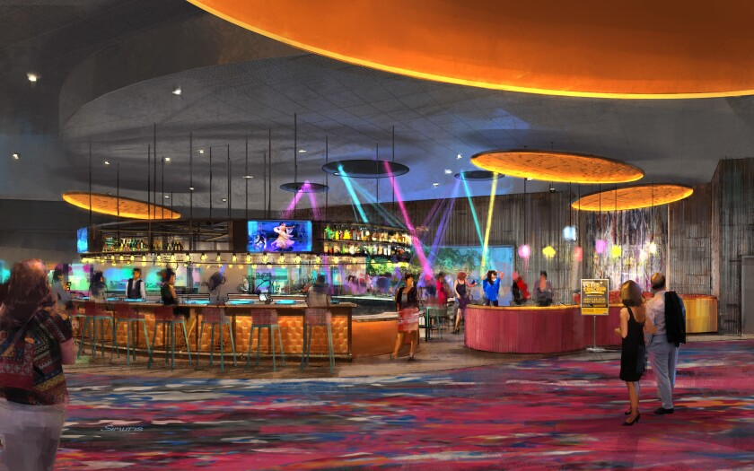 Agua Caliente Casinos broke ground in November on a new casino complex in Cathedral City, in the Palm Springs area. A rendering shows the new, 40,000 square foot gaming floor, which will feature 500 slots and eight table games.