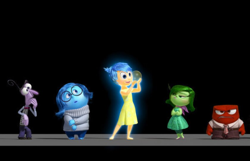 """Emotions are characters in Pixar's """"Inside Out."""""""