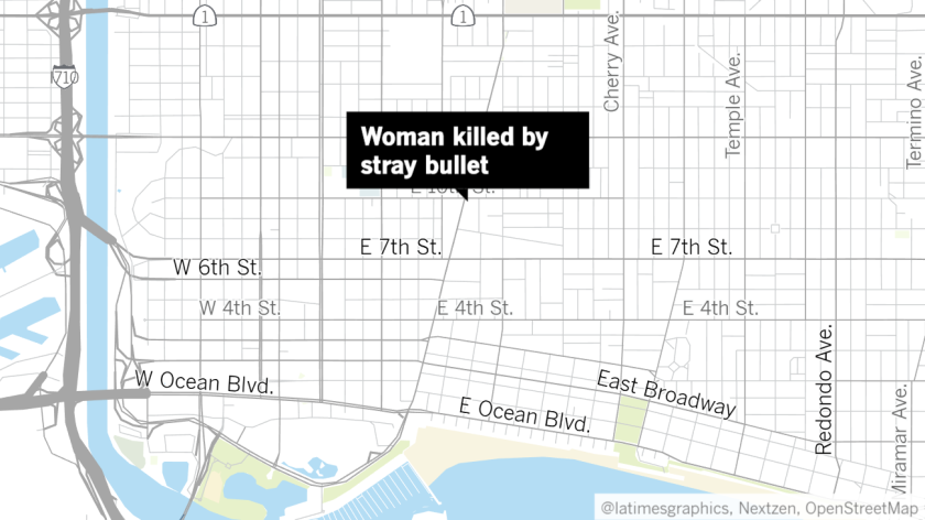 Map of woman killed by stray bullet