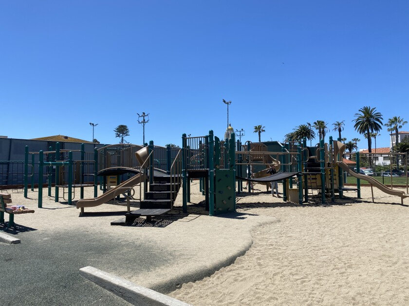 The playgrounds and other outdoor areas at the La Jolla Recreation Center are open to the public.