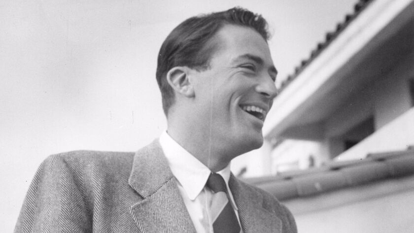 Gregory Peck at La Jolla Beach & Tennis Club, 1947.