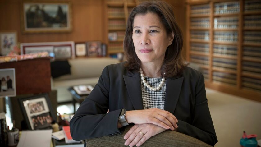 "California Supreme Court Chief Justice Tani Cantil-Sakauye wrote Monday's decision giving judges wide latitude in refusing to reduce sentences for ""three-strike"" prisoners."