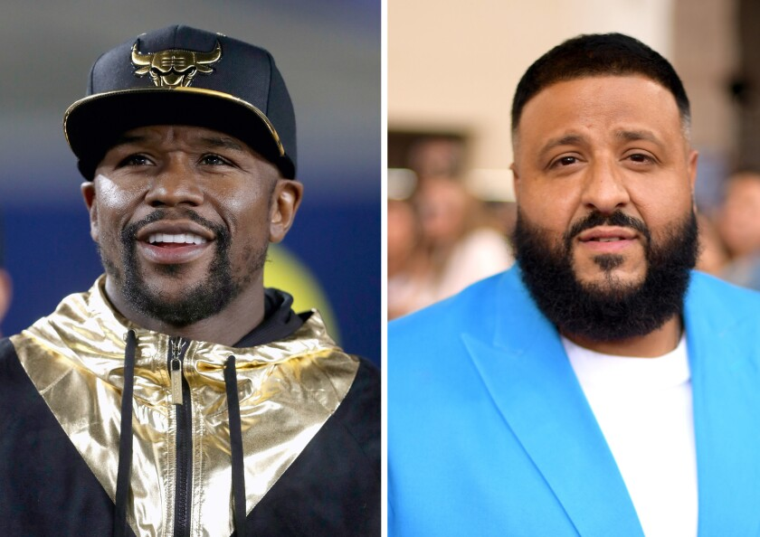 (L-R) Floyd Mayweather and DJ Khaled are paying the SEC over $700,000 in fines.