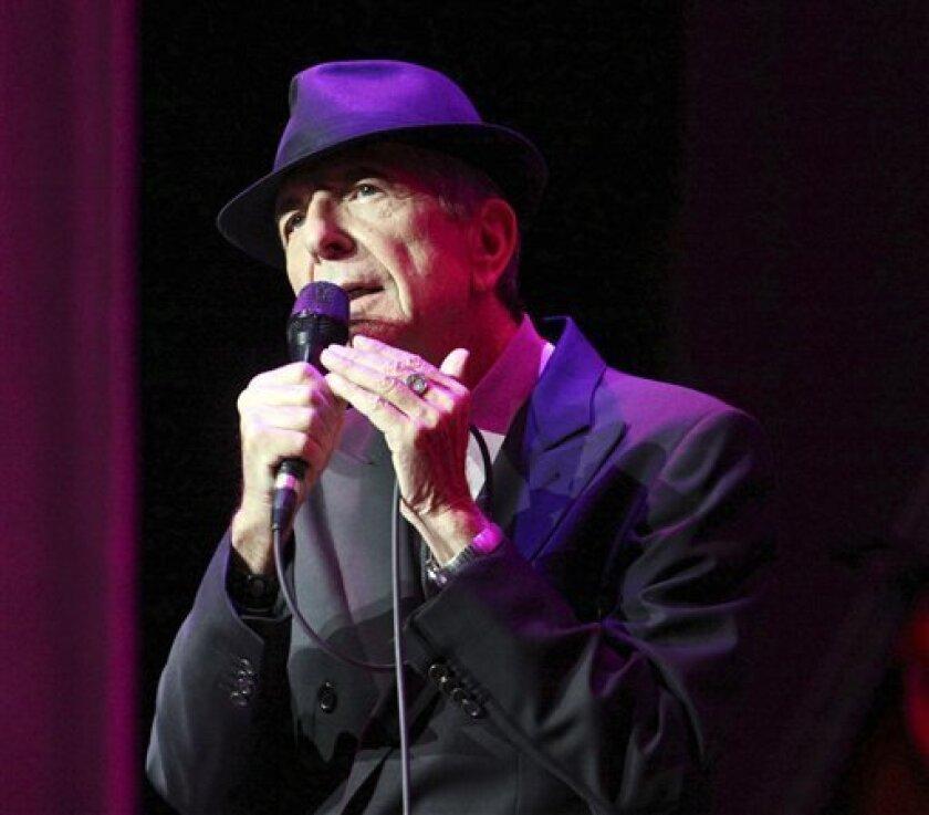 El mundo artístico reacciona ante muerte de Leonard Cohen.