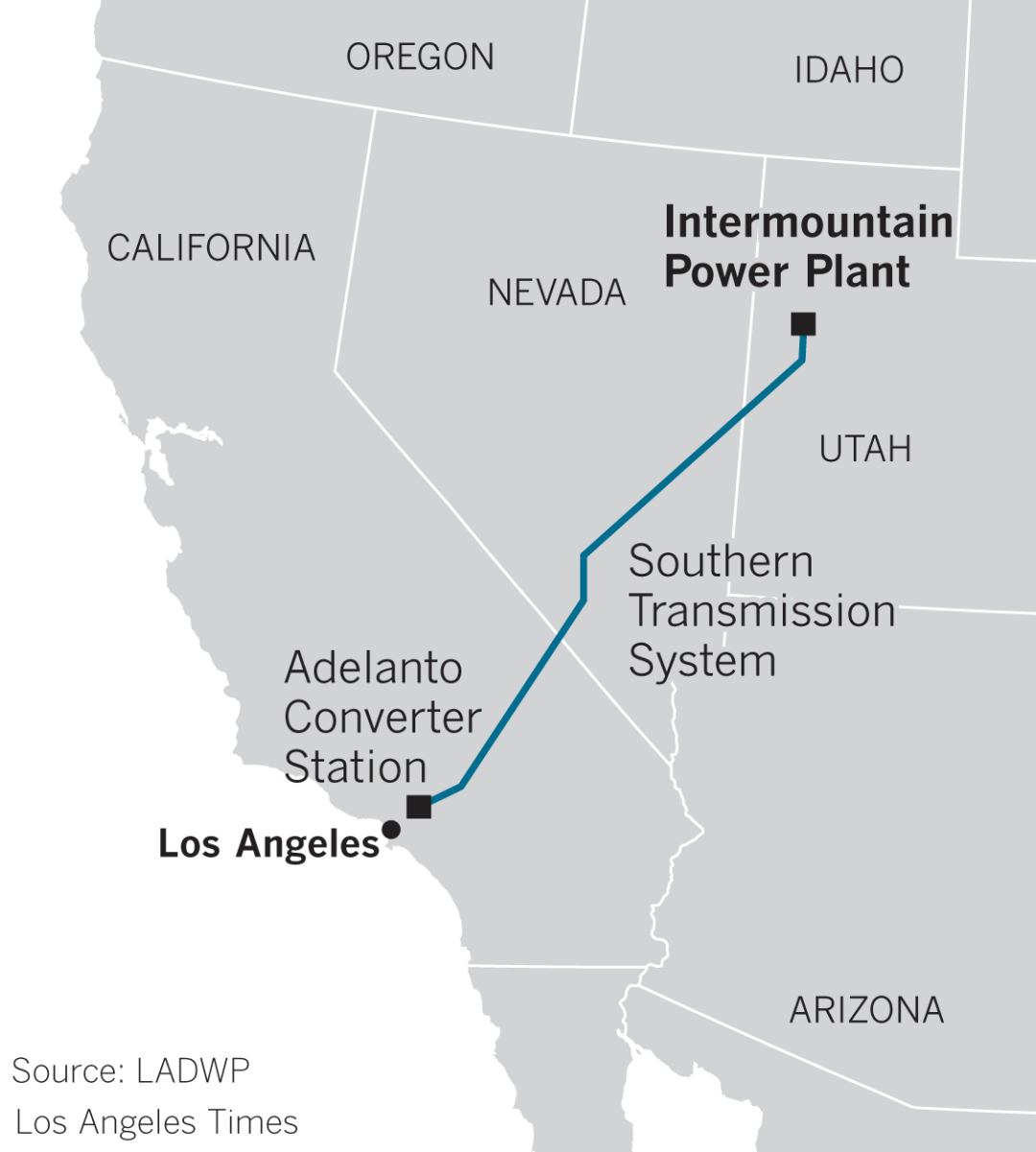 Intermountain Power Plant map