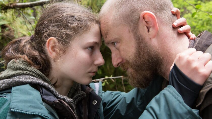 """Thomasin Harcourt McKenzie and Ben Foster in the film """"Leave No Trace."""" Credit: Scott Green"""