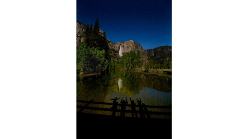 This shot capitalizes on moonlight, the Merced River and a long exposure.