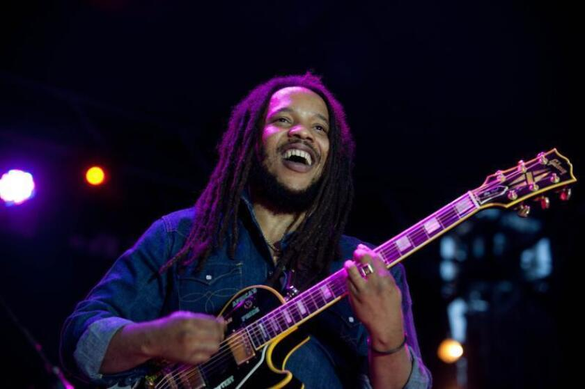 Jamaican musician Stephen Marley, son of late reggae legend Bob Marley, performs during his concert on the open air stage of Zold Pardon in Budapest, Hungary, May 31, 2012. EPA-EFE FILE/BEA KALLOS