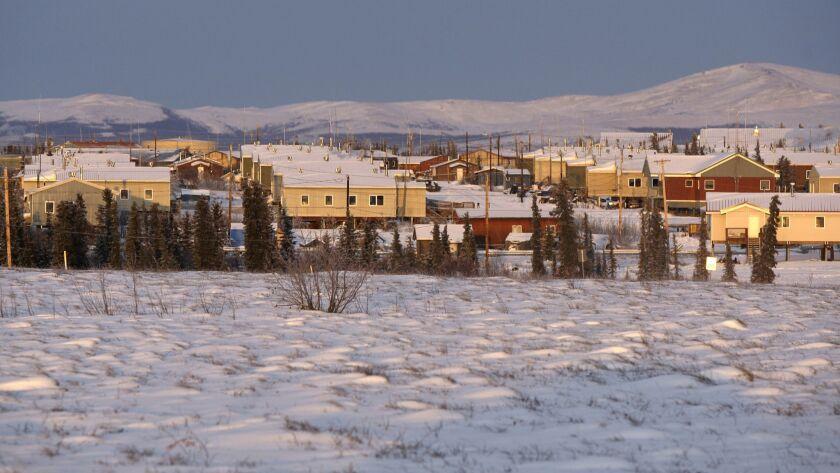 FILE - In this Jan. 22, 2010 file photo, is the remote Inupiat Eskimo village of Noorvik, Alaska. Fo