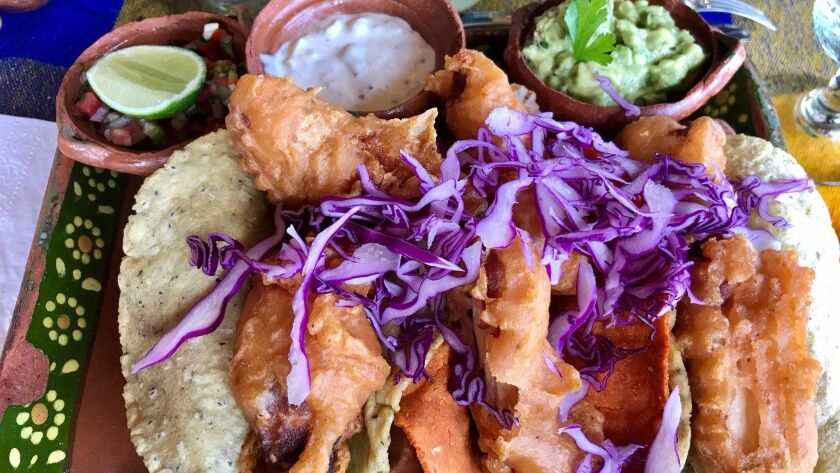 Hacienda de Oro's fish tacos at the Vallarta Botanical Gardens.