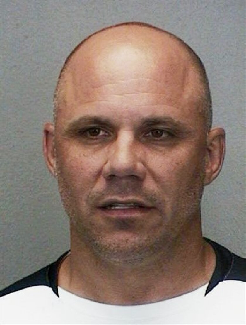 In this photo released on Thursday July 2, 2009, by the Broward County Sherrif's Office, former major league player Jim Leyritz is seen. Leyritz who is facing trial for DUI manslaughter charges, was arrested for battery and domestic violence in Davie, Fla., Thursday morning. (AP Photo/Broward County Sherriff's Office, HO)