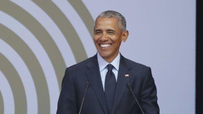 Former President Obama, in 2018