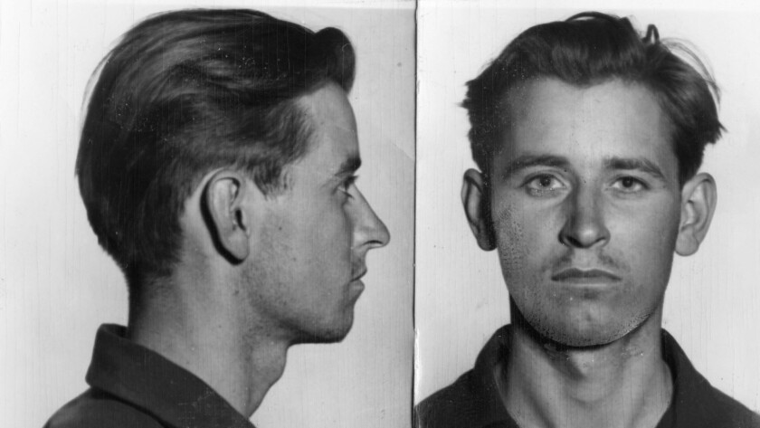 These pictures of James Earl Ray, alias Eric Starvo Galt, were taken after his first arrest-in Los A